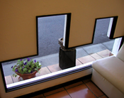 デザインガラス窓